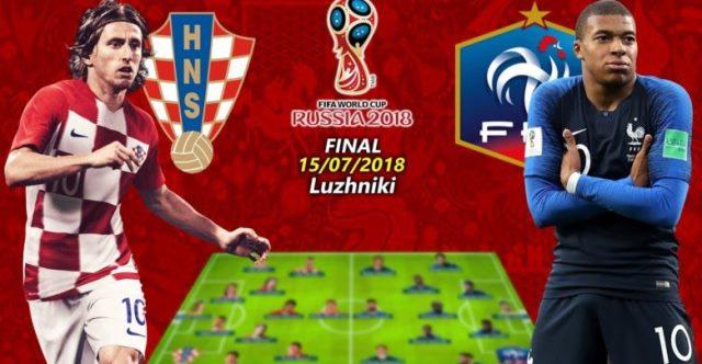финал русия 2018 франция хърватия